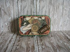 Altered Altoids Tin, Table or Desk Top, Travel Vacation Odyssey/Wild Adventure, Mini Scrapbook/Memory Album, Graphic Master Detective Meaningful Photos, Memory Album, Altered Tins, Best Mysteries, Altoids Tins, Green Butterfly, Graphic 45, Alters, Vacation Trips