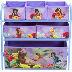 Toy-Organizer-By-Disney-Metal-Multi-Bin-Lavender-Kids-Storage-Box-Bedroom-NEW