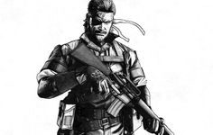 FAN ART Naked Snake (Big Boss) - Metal Gear Solid 3: Snake Eater #MetalGearSolid3 #NakedSnake #SnakeEater #MGS3SnakeEater #MGS3 #BigBoss