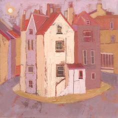 Bay Houses - Acrylic on canvas - H.30 x W.30cm - Giuliana Lazzerini