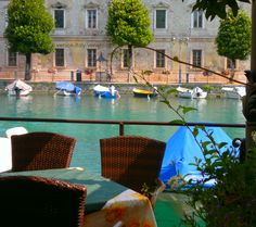 This is Peschiera - a lovely town on the shores of Lake Garda