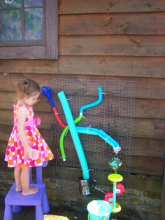 Harris Sisters GirlTalk: How to Make a DIY Water Wall for Summer