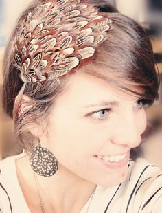 Feather Headband All Ages Unique and Eye Catching by adelitakelly, $12.00