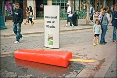 Guerilla Marketing: 15 Marketing Example That Will Blow Your Mind Ambush Marketing, Viral Marketing, Guerilla Marketing, Clever Advertising, Advertising Campaign, Ads, Advertising Design, New Thought, Guerrilla Marketing