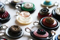DIY Vintage Button Pendants by Melody Nunez