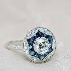 Art Deco Ring, Anel Art Deco, Art Deco Diamond, Art Deco Jewelry, Jewelry Ideas, Fine Jewelry, Vintage Wedding Jewelry, Vintage Rings, Vintage Jewellery
