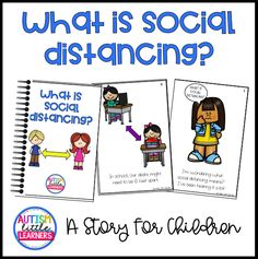 This story explains social distancing to children. With the Coronavirus pandemic, social distancing has been talked about and implemented all over the world. Explaining topics like Coronavirus, wearing masks, social distancing etc to children are very important. This free story is part of a series of COVID-19 related stories that I've created to support and educate children. Social Emotional Learning, Social Skills, Social Work, First Day Of School Activities, Preschool Activities, Preschool Classroom, Kindergarten, Classroom Ideas, Flipped Classroom