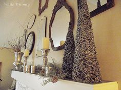 Christmas Mantle from Vintage Whimsy.