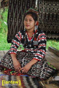 Divina with T'nalak cloth