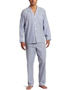 Majestic International Men s Basics Bengal Stripe Long Sleeve Pajama   60.00- pretty classical. Summer Office 39f572bcf