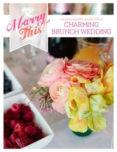 CHARMING BRUNCH WEDDING Start off your marriage with one of the best meals of the week. We love brunch – it's the best combination of savory and sweet, morning and afternoon, and fun and frugal. Included in this free guide:  How to host a stellar mimosa bar and make your own wedding coffee cake Suggestions on venues and menus Creating a classy bridal look for a morning affair A detailed budget on creating an $8k wedding