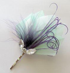 4 Wedding Hair Pieces Bridesmaid Set Feather by parfaitplumes