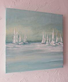 Marine paintings oil paintings - Sites new Sailboat Art, Sailboat Painting, Sailboats, Seascape Paintings, Watercolor Paintings, Oil Paintings, Landscape Art, Landscape Paintings, Art Drawings Sketches