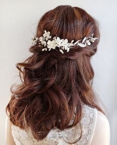 bridal hair vine bridal hair piece wedding by thehoneycomb on Etsy