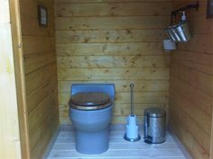The interior of the Westpeak outhouse.
