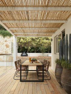 Australian Garden, Australian Homes, Outdoor Dining, Outdoor Spaces, Outdoor Decor, Outdoor Lighting, Indoor Outdoor, Boulder House, Tiered Garden