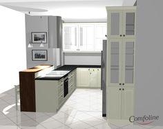 biała kuchnia z czarnym blatem - Szukaj w Google