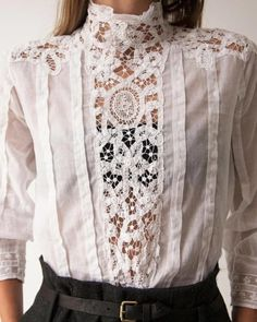 we love fashion Girly Outfits, Vintage Outfits, Casual Outfits, Vintage Fashion, Blouse Styles, Blouse Designs, Love Fashion, Womens Fashion, Girl Fashion