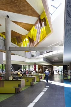 Image 9 of 22 from gallery of Bendigo Library / MGS Architects. Chapel Conversion, Library Design, Library Ideas, Public Architecture, Office Lobby, Nook And Cranny, Historical Sites, Beautiful Interiors, Layout Design