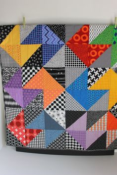 "Modern Baby Quilt ""Declan"" on Etsy by iheartbabyquilts"
