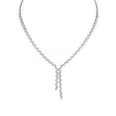 Angara Graduated Five Stone Diamond Halo Necklace in Platinum 2uU5Q64F