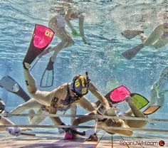 Underwater Hockey fight for the puck by SpainUWH Hockey Subacuatico on 500px