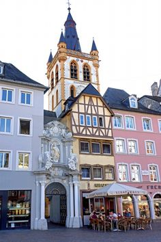Gangolf - Trier - Germany is along the Moselle bicycle route which continues into France. Places Around The World, Oh The Places You'll Go, Cool Places To Visit, Places To Travel, Cities In Germany, Germany Travel, Germany Castles, Wonderful Places, Beautiful Places