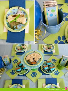 Dog Party Ideas - Party Table and Decorations
