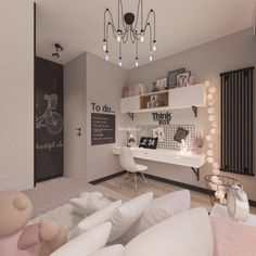 Vibrant teen girl bedrooms transformation for a impressive teen girl room design, pin number 8471832914 Room Design Bedroom, Room Ideas Bedroom, Home Room Design, Small Room Bedroom, Cozy Bedroom, 1920s Bedroom, Scandinavian Bedroom, Bedroom Lamps, Wall Lamps