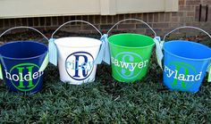 $22.00 personalized Easter buckets...love them!!! They are PERFECT!!!