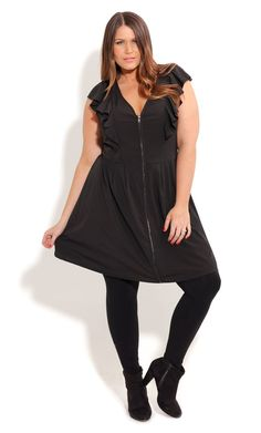 352494c690e Shop Women s Plus Size Women s Plus Size Ruffled Black Tunic