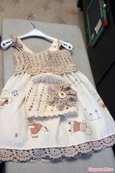 Fabulous Crochet a Little Black Crochet Dress Ideas. Georgeous Crochet a Little Black Crochet Dress Ideas. Crochet Tutu, Crochet Yoke, Crochet Fabric, Crochet Buttons, Crochet Girls, Crochet Baby Clothes, Crochet For Kids, Baby Dress Patterns, Little Girl Dresses