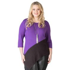 PRE-ORDER - Asymmetrical Colour Block Tunic (GRAPE) $69.95 http://www.curvyclothing.com.au/index.php?route=product/product&path=95_104&product_id=6867