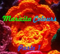 Bella flor a crochet / Häkeln. tutoria en youtube por Maricita Colours