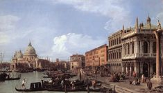 "Giovanni Antonio Canal (""Canaletto"", Italian, 1697-1768)   The Molo Looking West  1730"