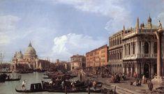 "Giovanni Antonio Canal (""Canaletto"", Italian, 1697-1768) The Molo Looking West 1730"