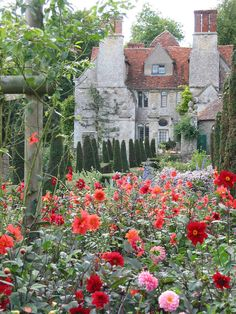 Garsington Manor, a Tudor era manor house in Oxfordshire, England.