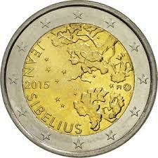 2 euro Finlandia 2015. 150° anniversario della nascita del compositore Jean Sibelius