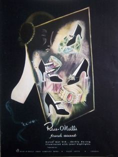 1948 Rice-O'Neills French Accent shoes ad. #vintage #shoes #fashion #1940s #ads