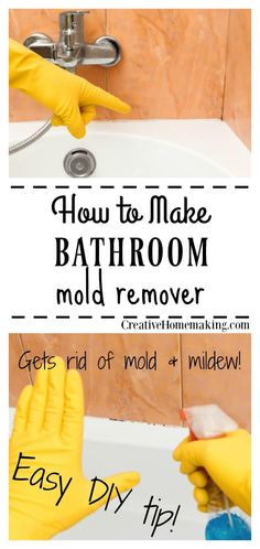 Get rid of mold and mildew in the bathroom for good with this easy DIY household cleaner. This is the best bathroom mold remover I've ever used! diy bathroom Mold and Mildew Remover Cleaning Mold, House Cleaning Tips, Diy Cleaning Products, Deep Cleaning, Cleaning Bathroom Mold, Cleaning Supplies, Diy Home Cleaning, Cleaning Solutions, Spring Cleaning