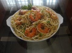 My Cooking Experiment Garlic Shrimp Pasta, Lemon Garlic Shrimp, Experiment, Spaghetti, Cooking, Ethnic Recipes, Food, Kitchen, Garlic Prawn Pasta
