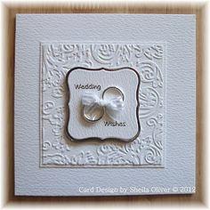 Love this CAS wedding card.