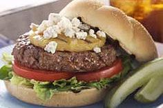 Sweet pineapple slices and crumbled blue cheese make a thrilling combination on these grilled hamburgers.