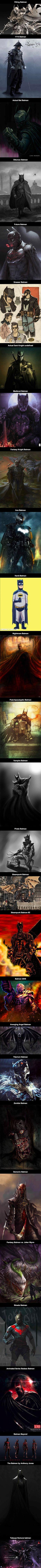 Here is what Batman would look like in alternate universes.