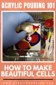 Know how the paint works really help you in making beautiful acrylic pouring cells. Acrylic Pouring Art, Acrylic Art, Business Articles, Pour Painting, Art Market, Sell Your Art, Online Art, Art Lessons, Canvas