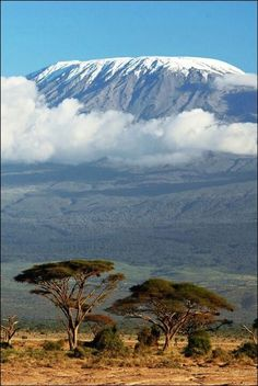 Mt. Kilimanjaro, Tanzania. I've wanted to climb this bad boy (but not sooo bad) since middle school. Takes less than a week to summit.