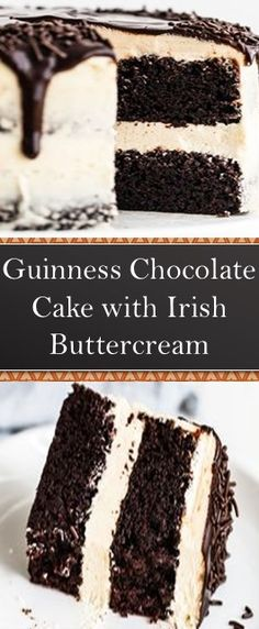 Guinness Chocolate Cake with Irish Buttercream patricks day dinner keto Guinness Chocolate Cake with Irish Buttercream Brownie Deserts, Brownie Cake, Guiness Cake Recipe, Köstliche Desserts, Delicious Desserts, Asian Desserts, Cake Recipes, Dessert Recipes, Diet Recipes