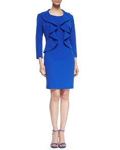Structured Crepe Dress Suit  by Albert Nipon at Neiman Marcus.