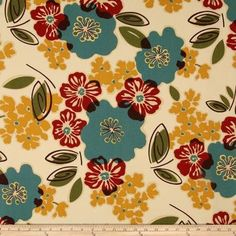 Sydney Tropic Cotton Fabric By The Yard Magnolia Home Fashions