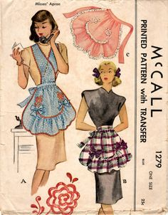Vintage McCall Apron Pattern//Vintage by TheIndigoOrchid on Etsy